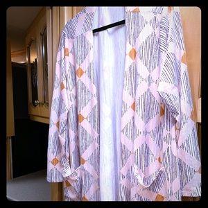 Lularoe open front cardigan, size XL.